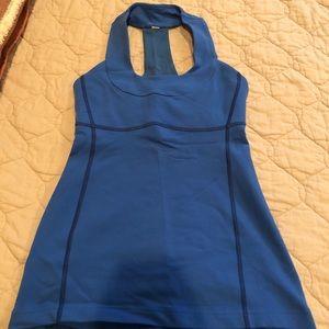 Blue lululemon workout top